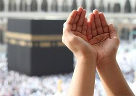 A person making supplication